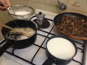 cooking Italian vegetarian lasagna recipe