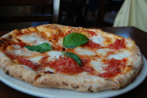 Real Italian pizza Margherita from Naples