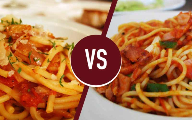 amatriciana or matriciana differences and recipes