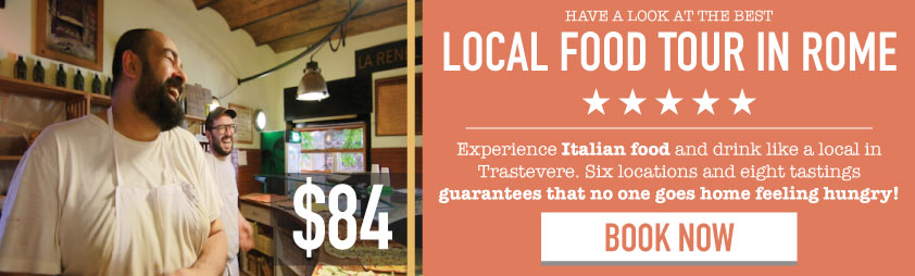Rome food tour banner Trastevere restaurants
