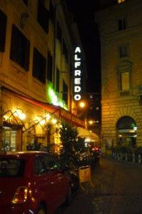 fettuccine alfredo italian dish restaurant via della scrofa-Fettuccine Alfredo
