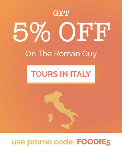 foodie5 promocode the roman guy tours in Italy