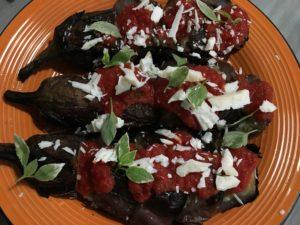 Stuffed Eggplant Recipe add pecorino cheese
